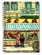 Oscar 's Candy Store Montreal Spiral Notebook