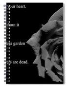 Oscar Wilde Love Quote Spiral Notebook