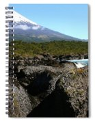 Osorno Volcano From Petrohue Falls Spiral Notebook