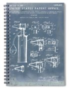 Otoscope Patent 1927 Blue Grunge Spiral Notebook