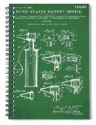 Otoscope Patent 1927 Green Spiral Notebook
