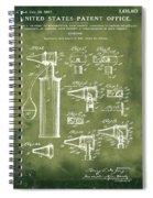 Otoscope Patent 1927 Grunge Spiral Notebook