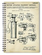 Otoscope Patent 1927 Old Style Spiral Notebook