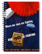 Our Food Is Fighting - Ww2 Spiral Notebook