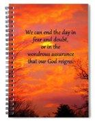 Our God Reigns Spiral Notebook