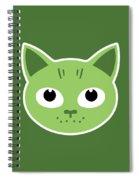 Our Green Cat Birka Spiral Notebook