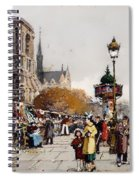 Our Lady For The Quai Saint-michel Spiral Notebook