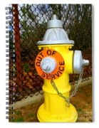 Out Of Service Spiral Notebook