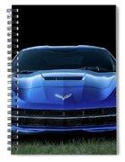 Blue 2013 Corvette Spiral Notebook