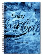 Out Of This World Coca Cola Blues Spiral Notebook