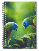 Out On A Limb - St. Lucia Parrots Spiral Notebook
