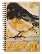Out On A Limb With Orange Feet Spiral Notebook