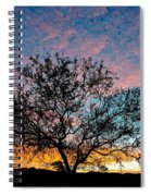 Outback Sunset Pano Spiral Notebook