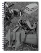 Outboards Bw Spiral Notebook
