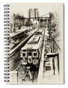 Outbound Train Spiral Notebook