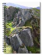 Outcrop In Snowdonia Spiral Notebook