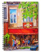 Outdoor Cafe Spiral Notebook