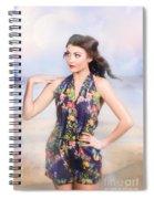 Outdoor Fashion Portrait. Spring Twilight Beauty Spiral Notebook
