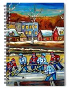 Outdoor Hockey Rink Spiral Notebook