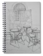 Outdoor Seating - Pirates Alley - French Quarter Spiral Notebook