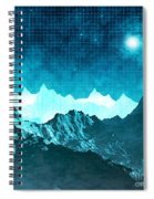 Outer Space Mountains Spiral Notebook