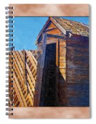 Outhouse 2 Spiral Notebook