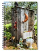 Outhouse In The Garden Spiral Notebook