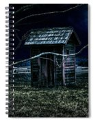 Outhouse In The Moonlight With Flying Crows Spiral Notebook