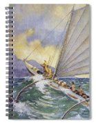 Outrigger At Sea Spiral Notebook
