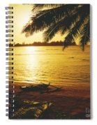Outrigger At Sunset Spiral Notebook