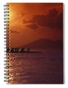 Outrigger Canoe At Sunset Spiral Notebook