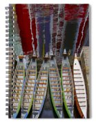 Outrigger Canoe Boats And Water Reflection Spiral Notebook