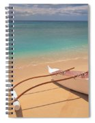 Outrigger On Beach Spiral Notebook