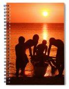 Outrigger Sunset Silhouet Spiral Notebook