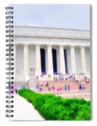 Outside The Lincoln Memorial Spiral Notebook