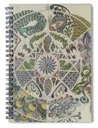 Outside The Mandala Spiral Notebook