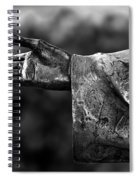 Outstreched Hand B-w Spiral Notebook