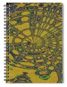 Oval Abstract Maple Leaf  Spiral Notebook