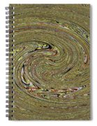 Oval Abstract Panel 6150-5 Spiral Notebook