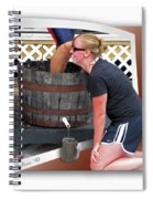 Over A Barrel Spiral Notebook