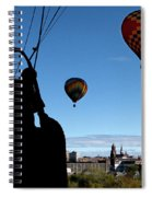 Over Auburn And Lewiston Hot Air Balloons Spiral Notebook