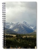 Over The Fence To Dusted Mountains Spiral Notebook