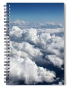 Over The Heavenly Clouds Spiral Notebook