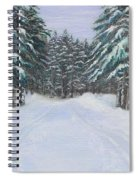 Snow Tracks Spiral Notebook