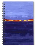 Over The Line Blue Spiral Notebook