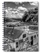 Over The Rooftops At Portree In Greyscale 2 Spiral Notebook