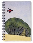Over The Trees Spiral Notebook