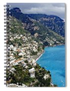 Overall View Of Part Of The Amalfi Coast In Italy Spiral Notebook