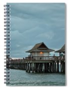 Clouds Over The Naples Pier Spiral Notebook