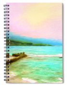 Overcast Sunset At Napoopoo Beach Park Spiral Notebook